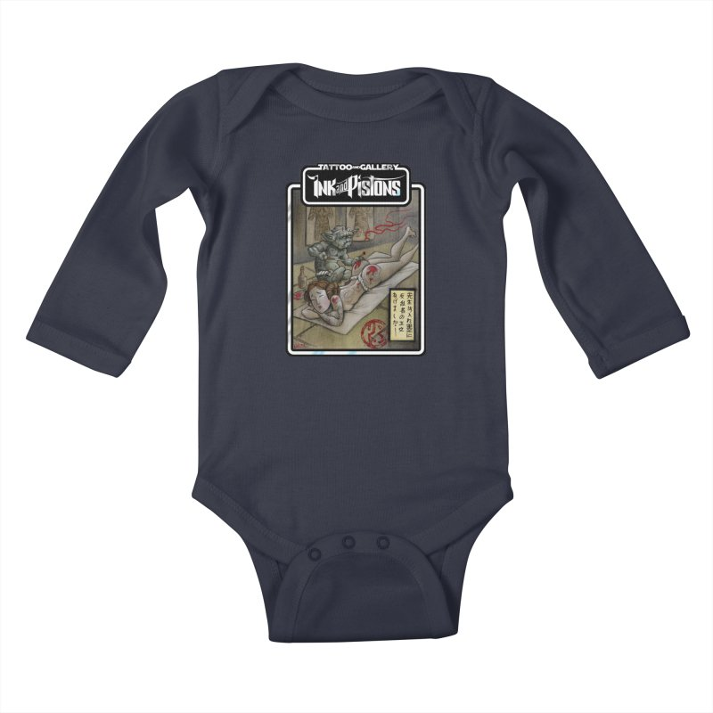 Ink and Pistons: Irezumi Wars Kids Baby Longsleeve Bodysuit by Ink and Pistons   SlushBox