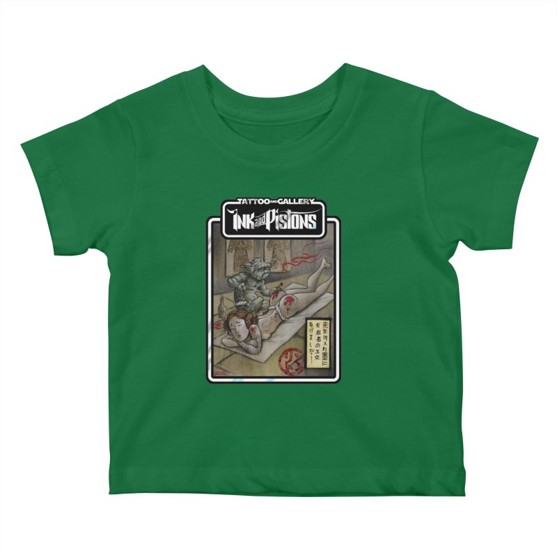Ink and Pistons: Irezumi Wars Kids Baby T-Shirt by Ink and Pistons | SlushBox