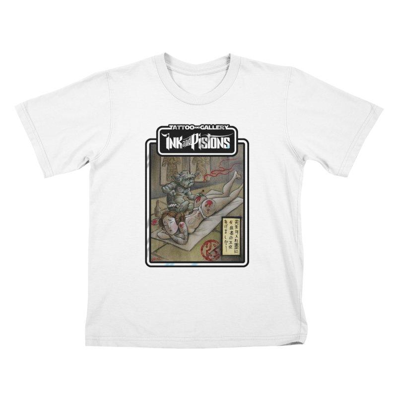 Ink and Pistons: Irezumi Wars Kids T-Shirt by Ink and Pistons | SlushBox