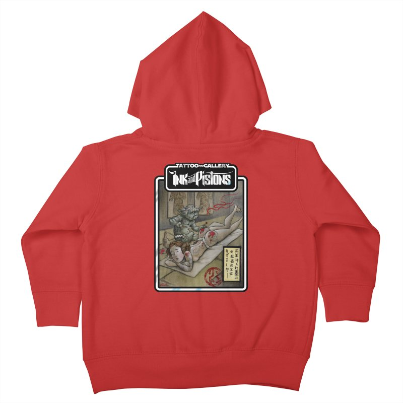 Ink and Pistons: Irezumi Wars Kids Toddler Zip-Up Hoody by Ink and Pistons   SlushBox