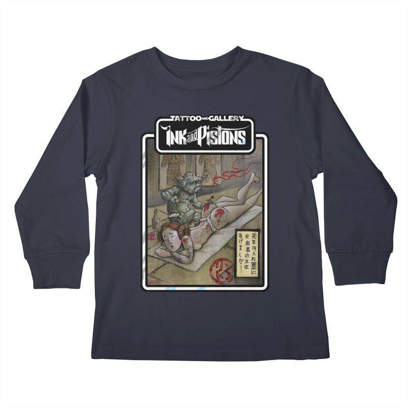 Ink and Pistons: Irezumi Wars Kids Longsleeve T-Shirt by Ink and Pistons | SlushBox
