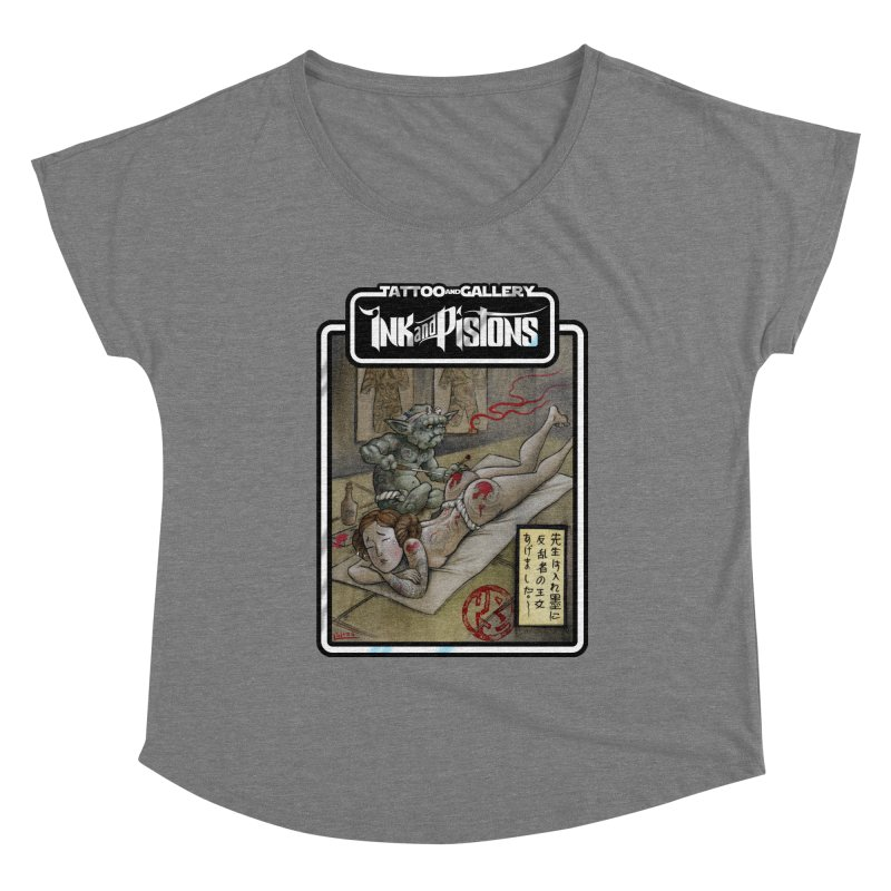 Ink and Pistons: Irezumi Wars Women's Scoop Neck by Ink and Pistons | SlushBox