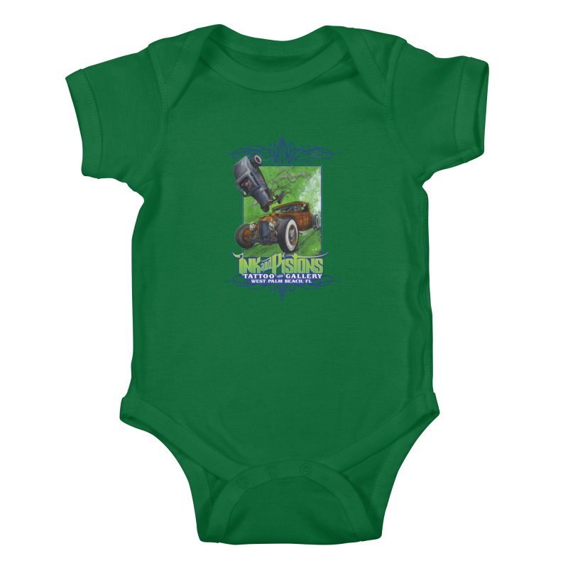 Ink and Pistons: Bottoms Up Kids Baby Bodysuit by Ink and Pistons | SlushBox