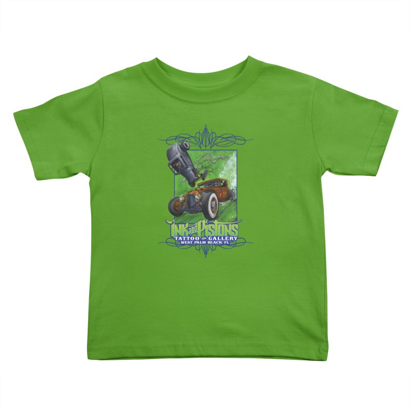 Ink and Pistons: Bottoms Up Kids Toddler T-Shirt by Ink and Pistons | SlushBox