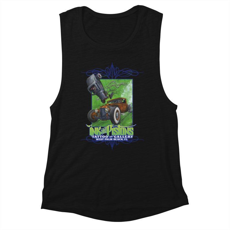 Ink and Pistons: Bottoms Up Women's Tank by Ink and Pistons | SlushBox