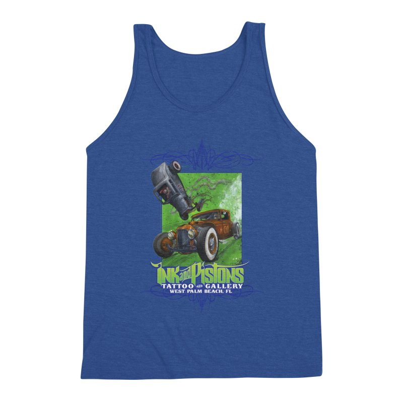 Ink and Pistons: Bottoms Up Men's Tank by Ink and Pistons | SlushBox