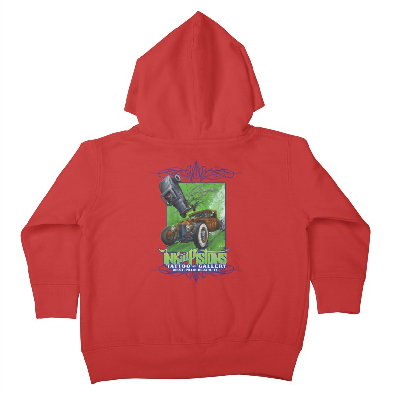 Ink and Pistons: Bottoms Up Kids Toddler Zip-Up Hoody by Ink and Pistons   SlushBox