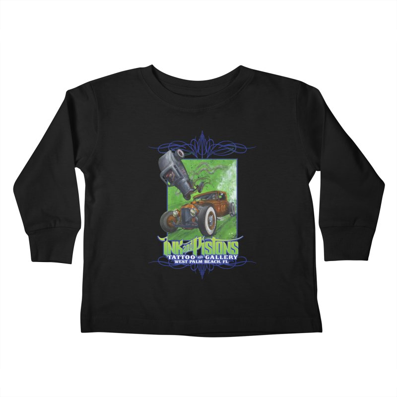 Ink and Pistons: Bottoms Up Kids Toddler Longsleeve T-Shirt by Ink and Pistons | SlushBox