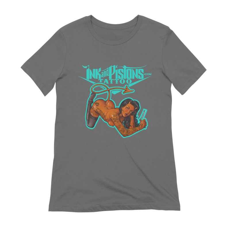Ink and Pistons: The Devil Made Me Do It Women's T-Shirt by Ink and Pistons   SlushBox