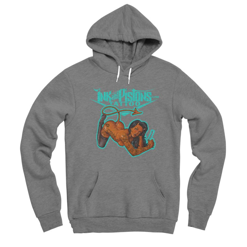 Ink and Pistons: The Devil Made Me Do It Women's Pullover Hoody by Ink and Pistons | SlushBox