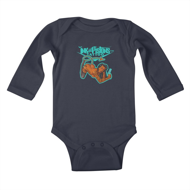Ink and Pistons: The Devil Made Me Do It Kids Baby Longsleeve Bodysuit by Ink and Pistons | SlushBox