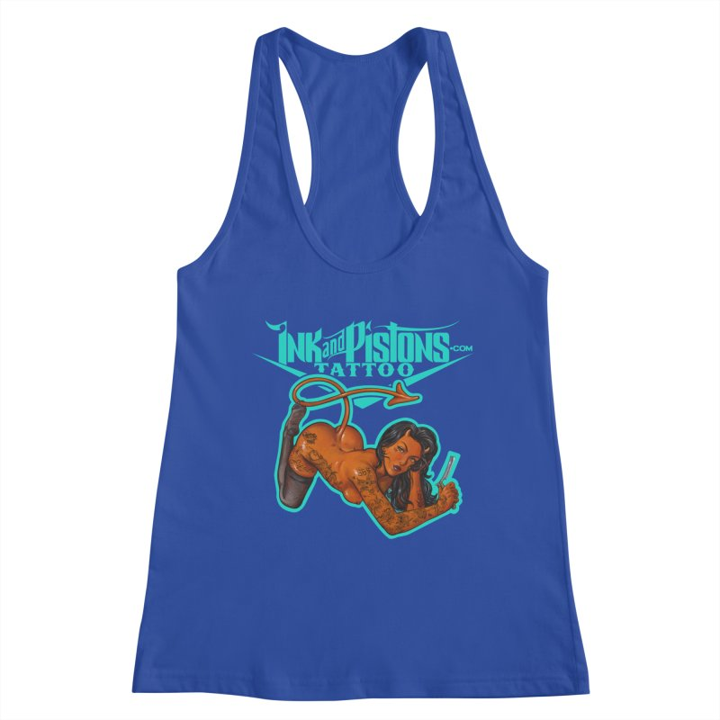Ink and Pistons: The Devil Made Me Do It Women's Tank by Ink and Pistons | SlushBox