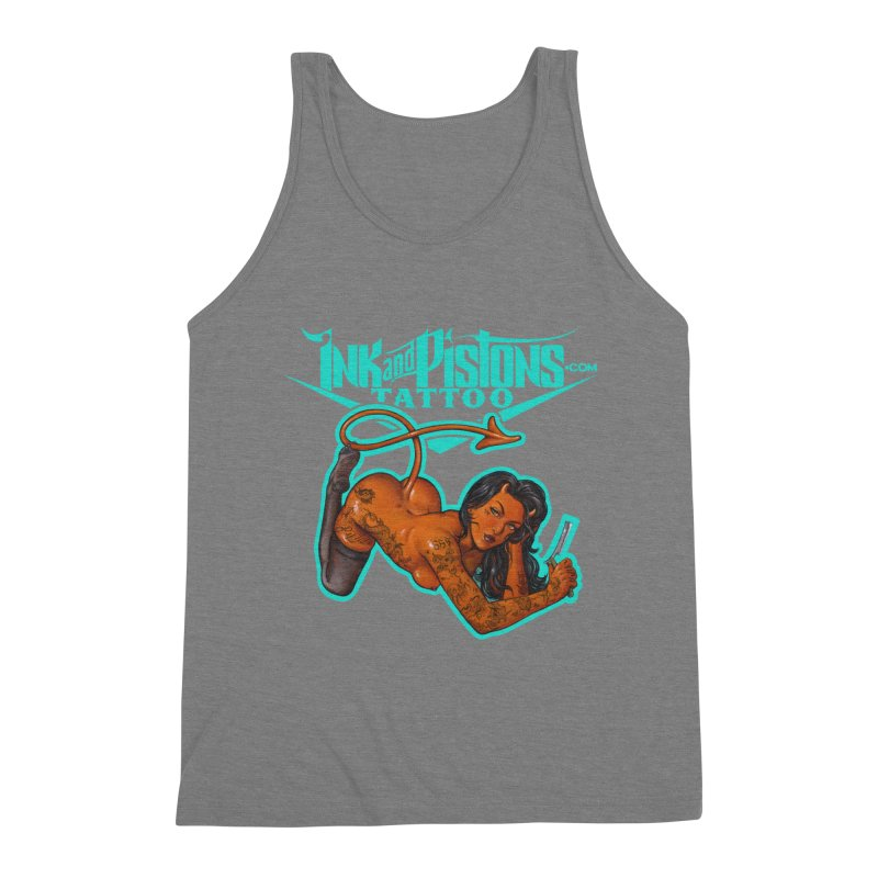 Ink and Pistons: The Devil Made Me Do It Men's Tank by Ink and Pistons | SlushBox