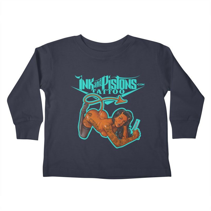 Ink and Pistons: The Devil Made Me Do It Kids Toddler Longsleeve T-Shirt by Ink and Pistons | SlushBox