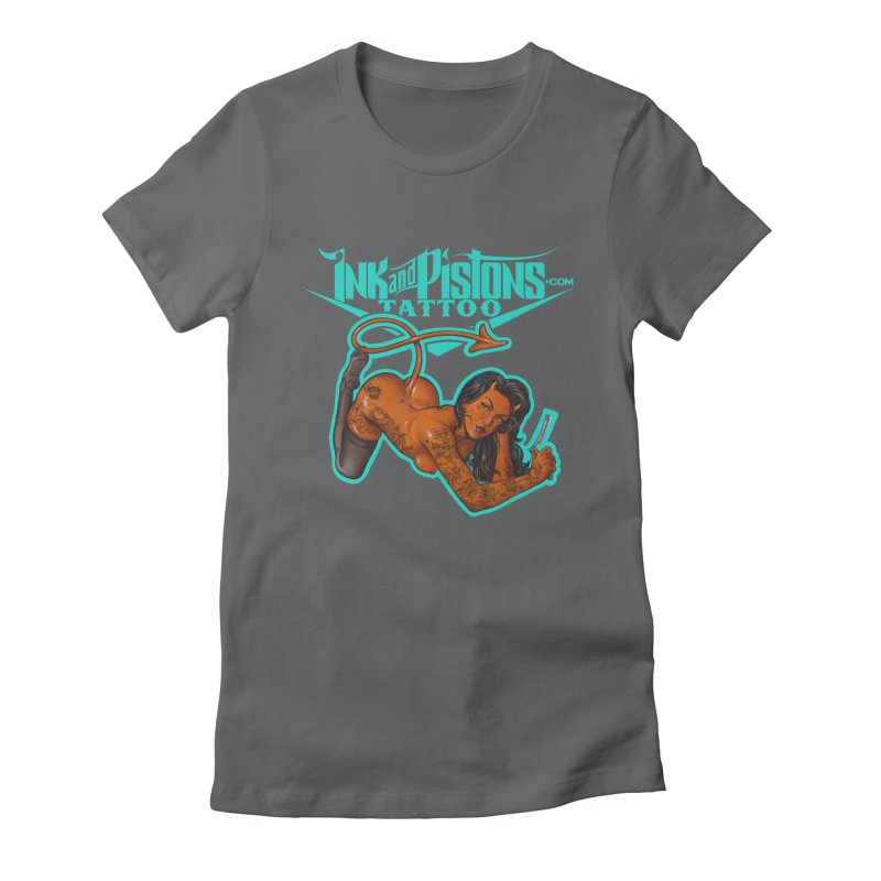 Ink and Pistons: The Devil Made Me Do It Women's T-Shirt by Ink and Pistons | SlushBox