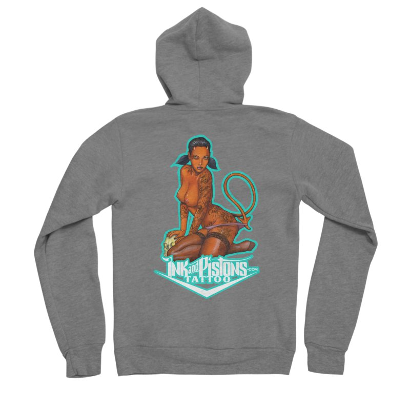Ink and Pistons: Coop Ate My Homework Women's Zip-Up Hoody by Ink and Pistons | SlushBox