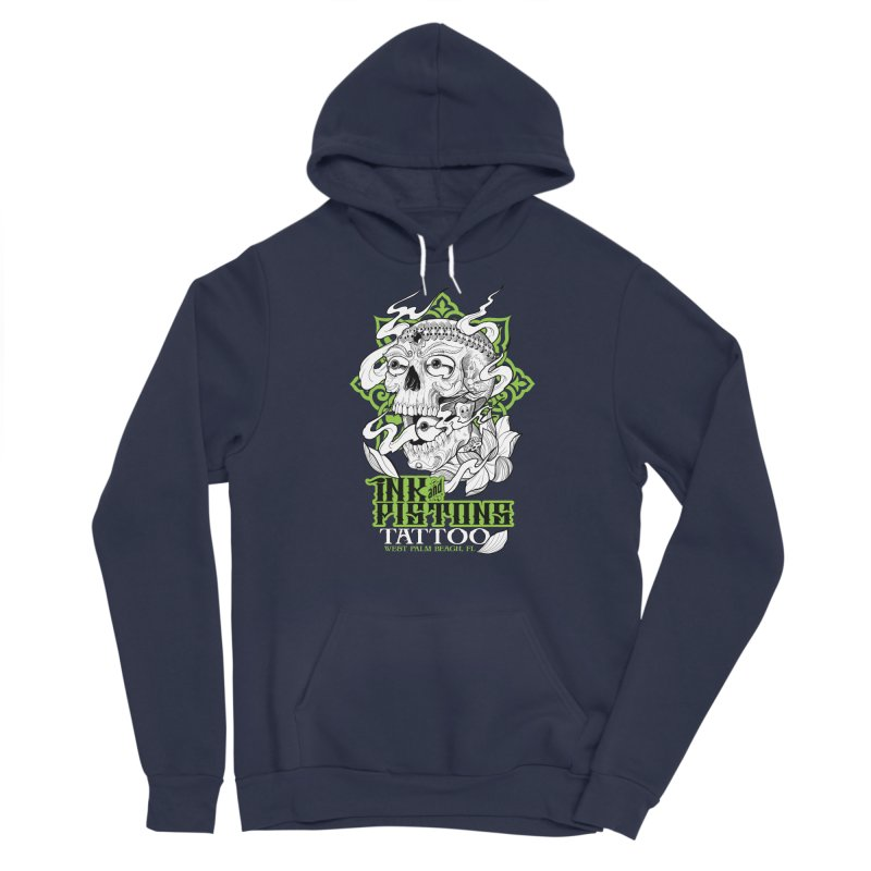 Ink and Pistons: Kapala Skull Men's Pullover Hoody by Ink and Pistons   SlushBox