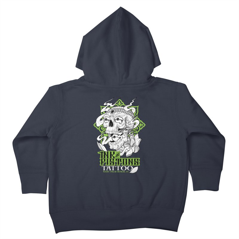 Ink and Pistons: Kapala Skull Kids Toddler Zip-Up Hoody by Ink and Pistons   SlushBox
