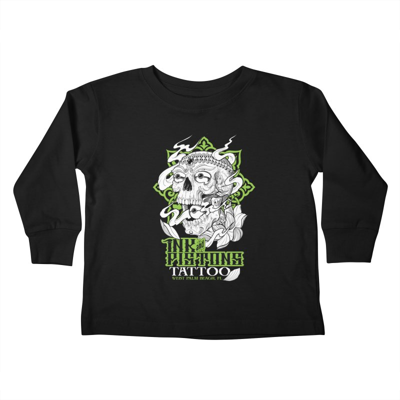 Ink and Pistons: Kapala Skull Kids Toddler Longsleeve T-Shirt by Ink and Pistons | SlushBox