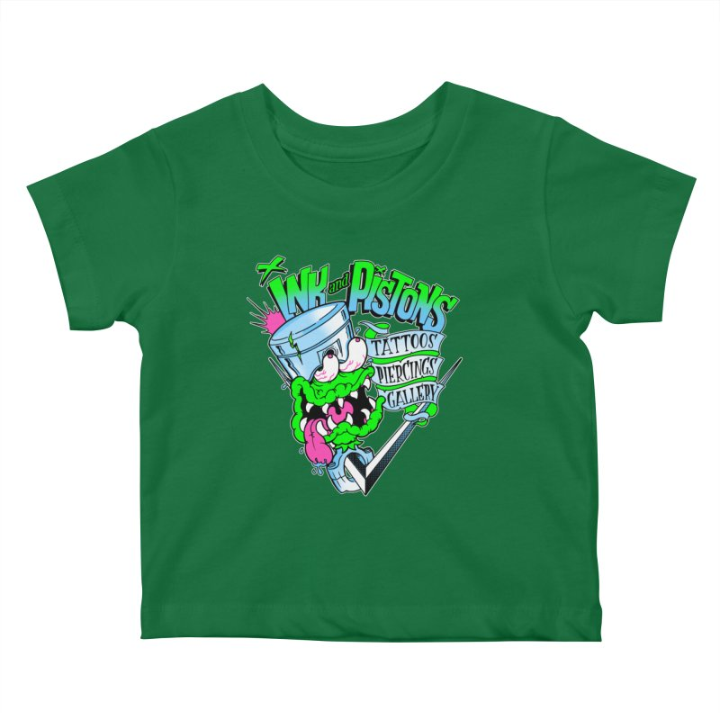Ink and PIstons: Piston Fink! Kids Baby T-Shirt by Ink and Pistons | SlushBox