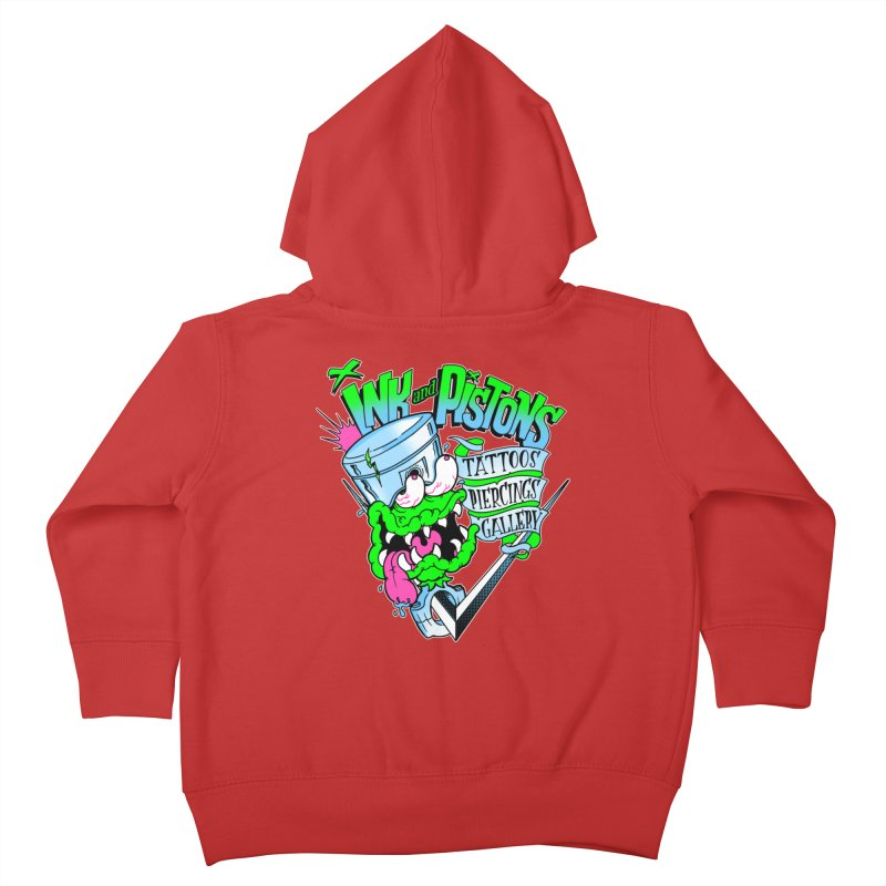 Ink and PIstons: Piston Fink! Kids Toddler Zip-Up Hoody by Ink and Pistons | SlushBox