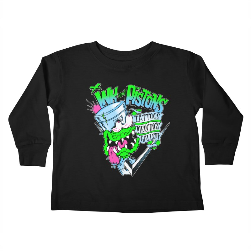 Ink and PIstons: Piston Fink! Kids Toddler Longsleeve T-Shirt by Ink and Pistons | SlushBox