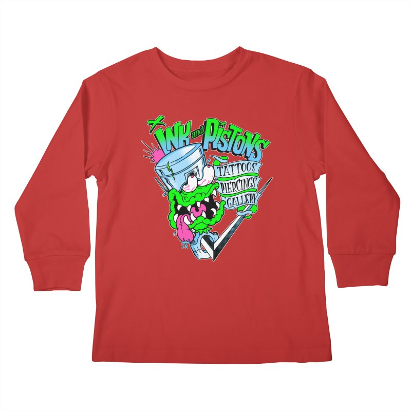 Ink and PIstons: Piston Fink! Kids Longsleeve T-Shirt by Ink and Pistons   SlushBox