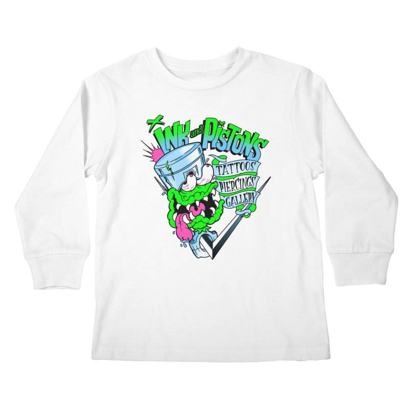 Ink and PIstons: Piston Fink! Kids Longsleeve T-Shirt by Ink and Pistons | SlushBox