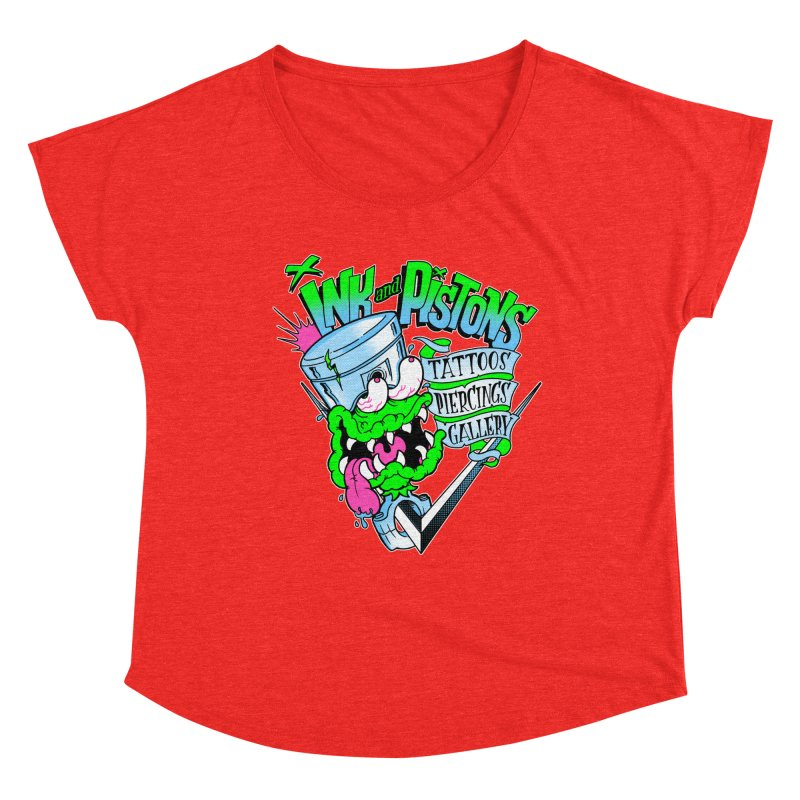 Ink and PIstons: Piston Fink! Women's Scoop Neck by Ink and Pistons | SlushBox