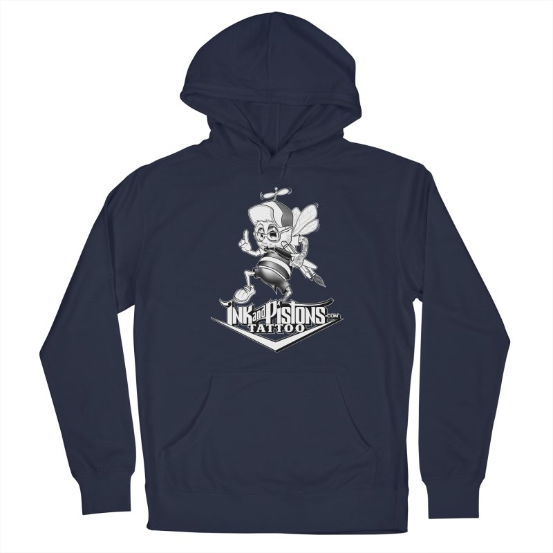 Ink and Pistons: @AdamBee Black and White Men's Pullover Hoody by Ink and Pistons | SlushBox