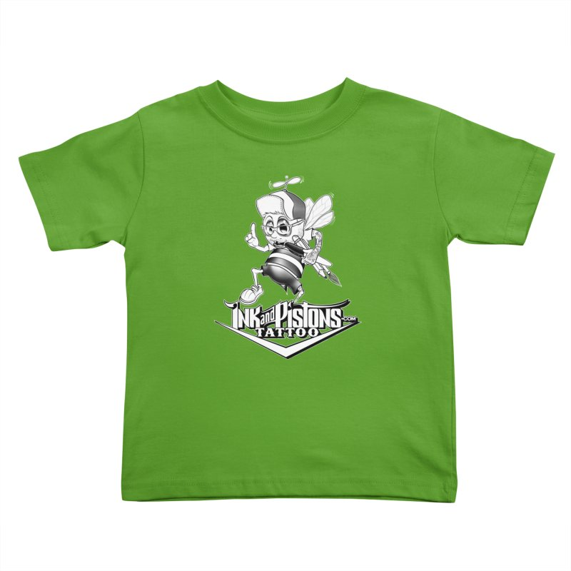 Ink and Pistons: @AdamBee Black and White Kids Toddler T-Shirt by Ink and Pistons | SlushBox