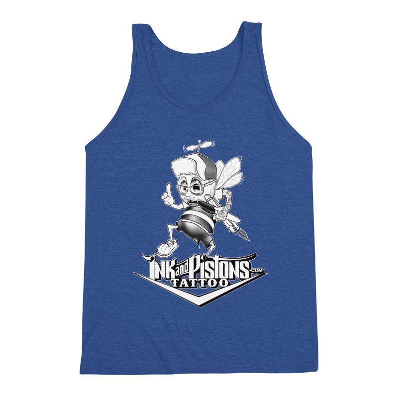 Ink and Pistons: @AdamBee Black and White Men's Tank by Ink and Pistons | SlushBox