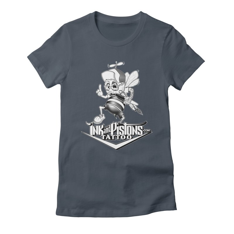 Ink and Pistons: @AdamBee Black and White Women's T-Shirt by Ink and Pistons   SlushBox