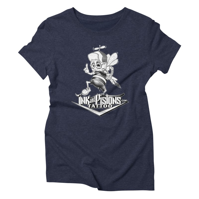 Ink and Pistons: @AdamBee Black and White Women's T-Shirt by Ink and Pistons | SlushBox
