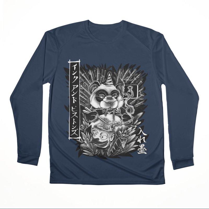 Ink and Pistons: Panda Ramen Women's Longsleeve T-Shirt by Ink and Pistons | SlushBox
