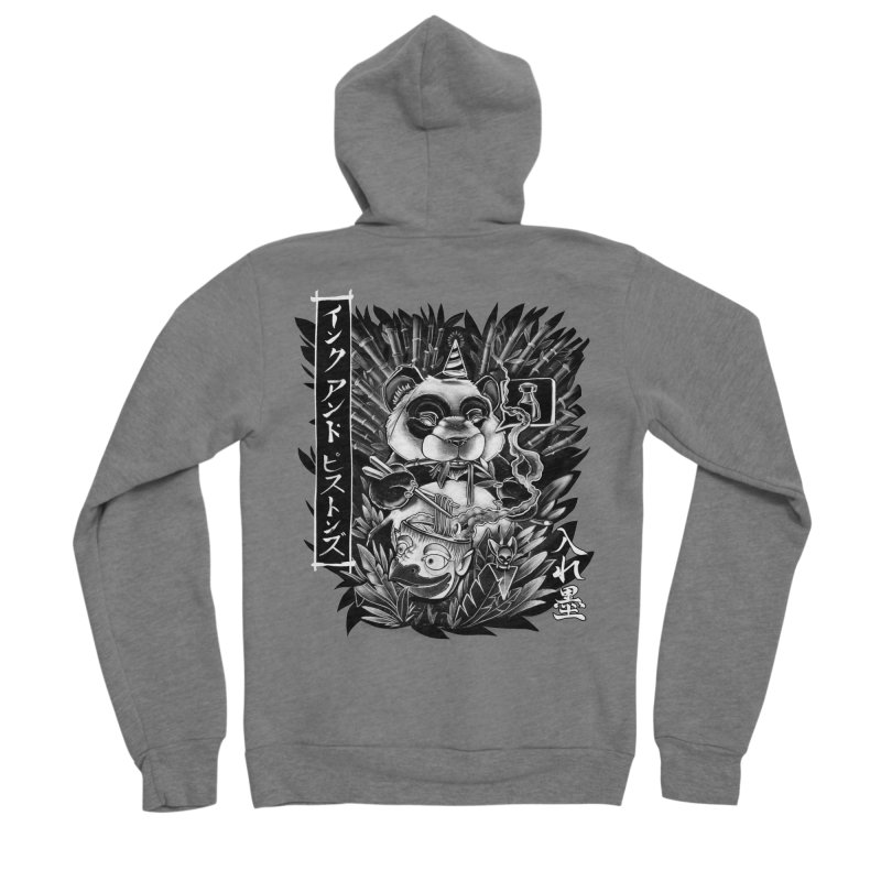 Ink and Pistons: Panda Ramen Women's Zip-Up Hoody by Ink and Pistons | SlushBox
