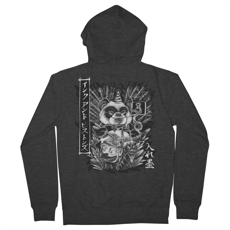 Ink and Pistons: Panda Ramen Men's Zip-Up Hoody by Ink and Pistons   SlushBox