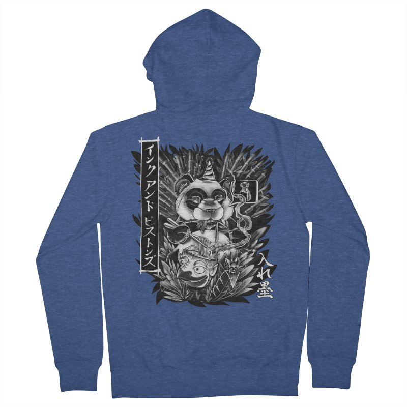 Ink and Pistons: Panda Ramen Men's Zip-Up Hoody by Ink and Pistons | SlushBox