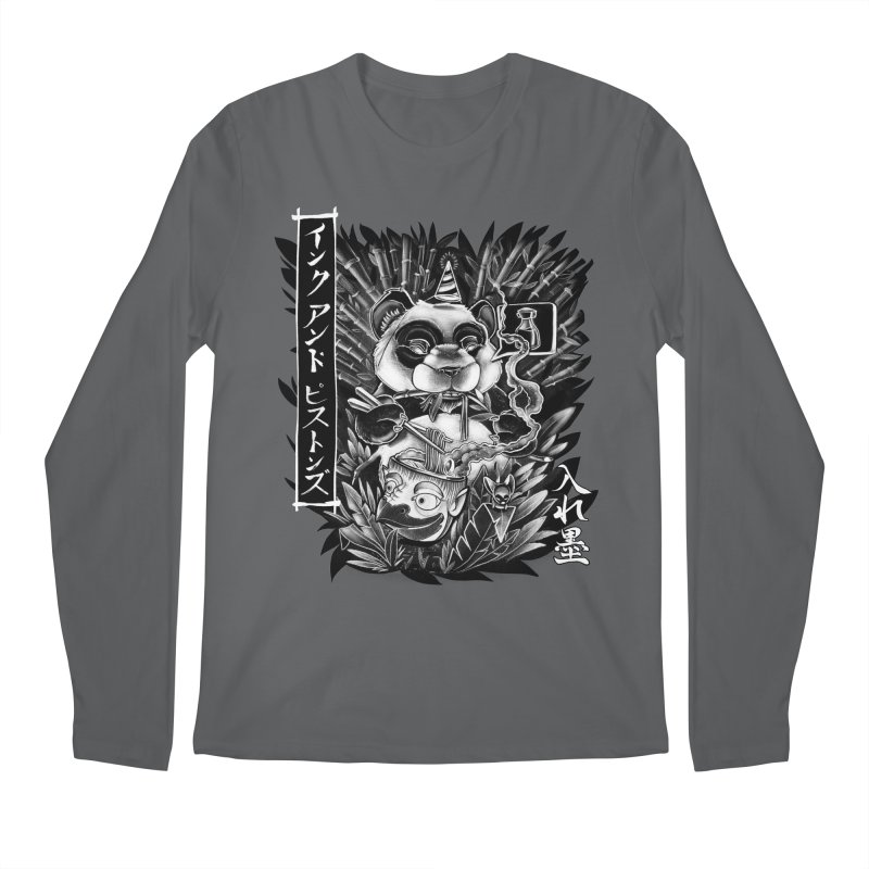 Ink and Pistons: Panda Ramen Men's Longsleeve T-Shirt by Ink and Pistons | SlushBox