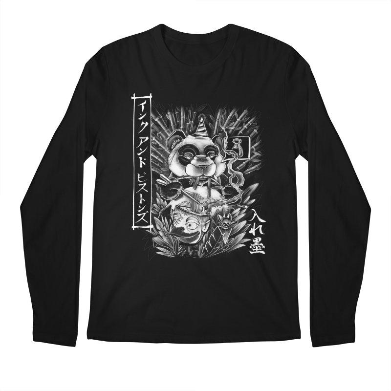 Ink and Pistons: Panda Ramen Men's Longsleeve T-Shirt by Ink and Pistons   SlushBox