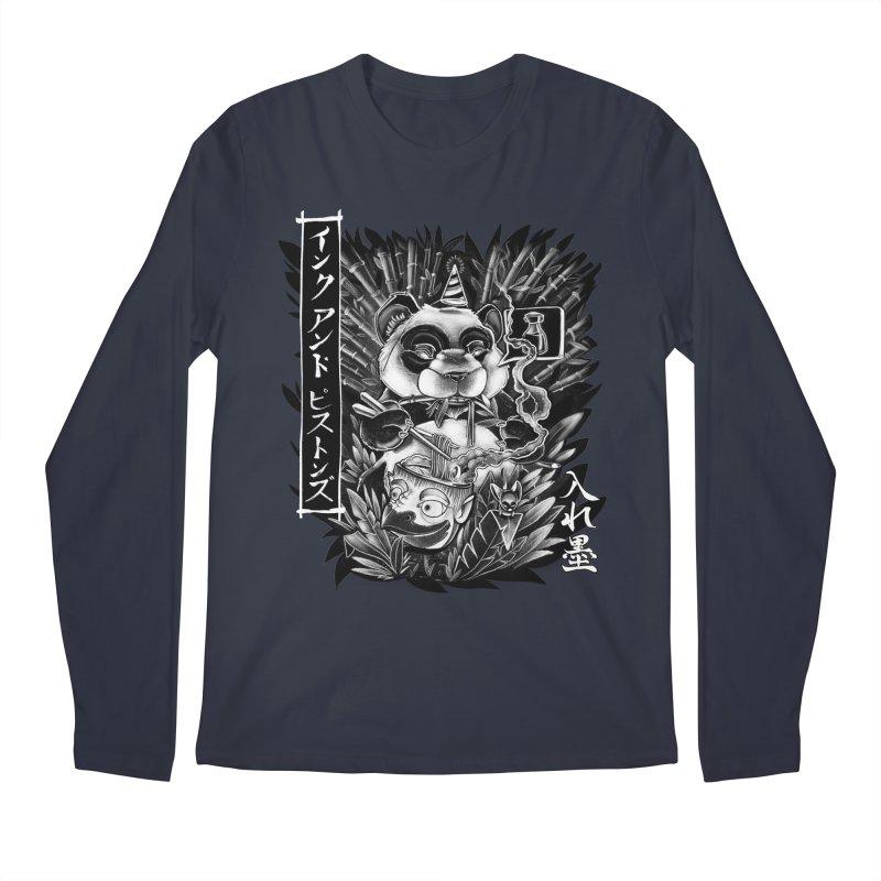 Ink and Pistons: Panda Ramen Men's Longsleeve T-Shirt by Ink and Pistons | SlushBox