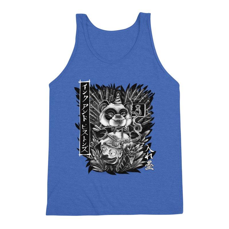 Ink and Pistons: Panda Ramen Men's Tank by Ink and Pistons | SlushBox
