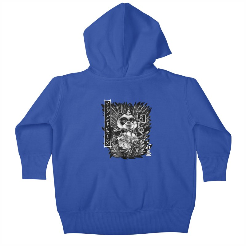 Ink and Pistons: Panda Ramen Kids Baby Zip-Up Hoody by Ink and Pistons | SlushBox