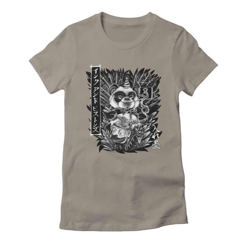 Ink and Pistons: Panda Ramen Women's T-Shirt by Ink and Pistons | SlushBox