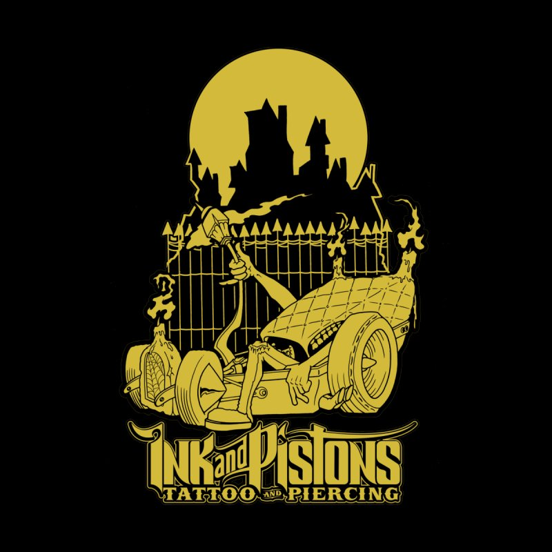 Ink and Pistons: @skud_007 Graveyard Dragster Kids Longsleeve T-Shirt by Ink and Pistons | SlushBox