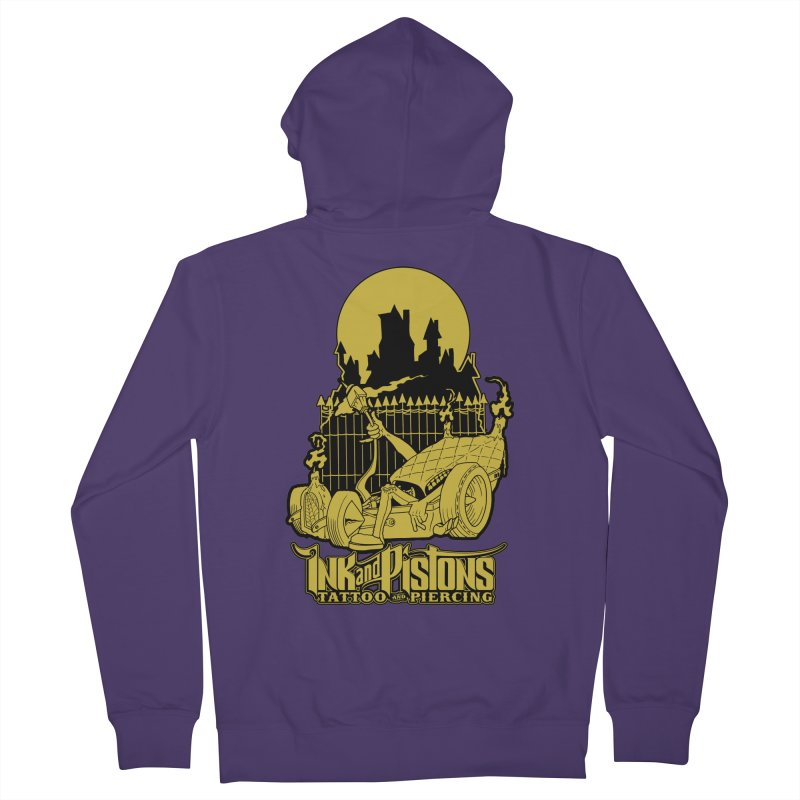 Ink and Pistons: @skud_007 Graveyard Dragster Women's Zip-Up Hoody by Ink and Pistons | SlushBox