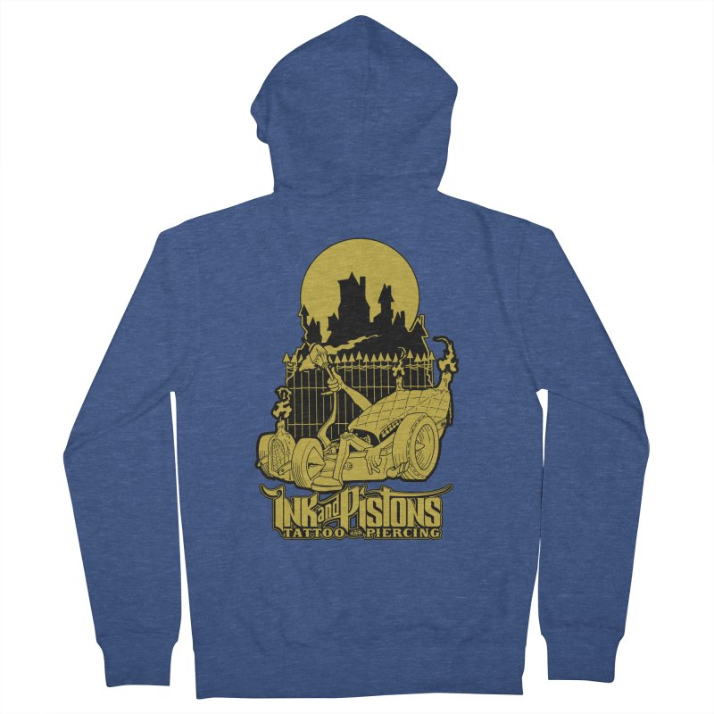 Ink and Pistons: @skud_007 Graveyard Dragster Men's Zip-Up Hoody by Ink and Pistons | SlushBox