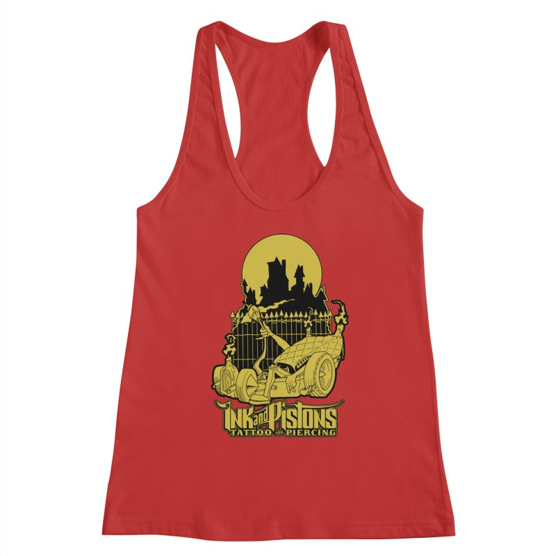 Ink and Pistons: @skud_007 Graveyard Dragster Women's Tank by Ink and Pistons   SlushBox