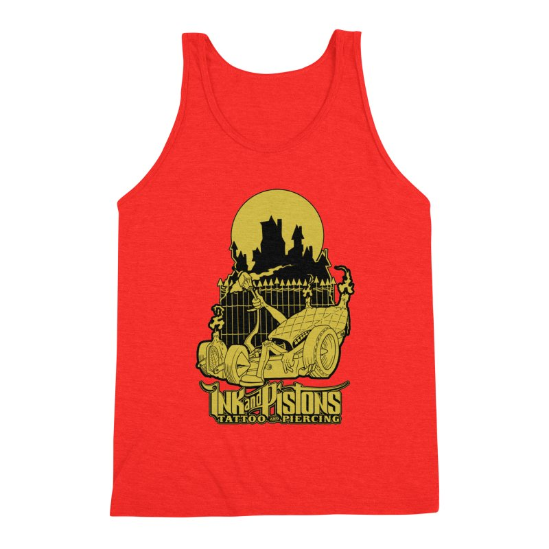 Ink and Pistons: @skud_007 Graveyard Dragster Men's Tank by Ink and Pistons | SlushBox