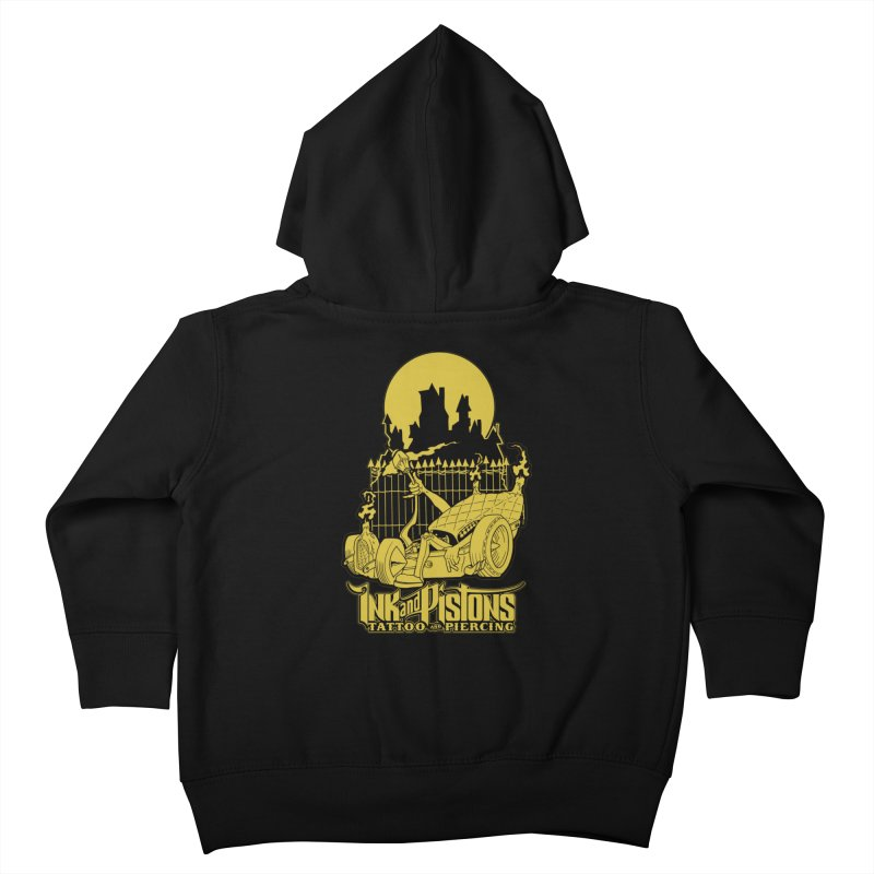 Ink and Pistons: @skud_007 Graveyard Dragster Kids Toddler Zip-Up Hoody by Ink and Pistons | SlushBox